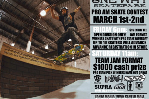 ATTENTION! Come out to Santa Maria, CA this Saturday for the ONE WAY Skatepark PRO AM Contest!