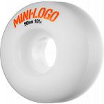 Mini Logo Wheel C-cut 50mm 101A White 4pk