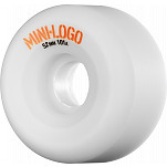Mini Logo Wheel A-Cut 52mm 101a White4 pk
