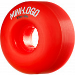 Mini Logo Wheel C-cut 53mm 101A Red 4pk