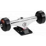 "Mini Logo Truck Assembly - 8"" Polished/Black - ML Bearings - 53mm 101a Black Wheels"