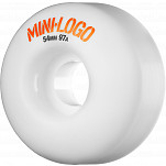 Mini Logo Wheel C-cut 54mm 97a White 4pk