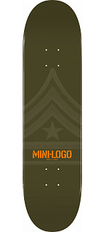 Mini Logo Quartermaster Skateboard Deck 127 Green - 8 x 32.125