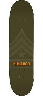 Mini Logo Quartermaster Skateboard Deck 127 Green - 8 x 32.125