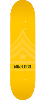 Mini Logo Quartermaster Skateboard Deck 112 Yellow - 7.75 x 31.75