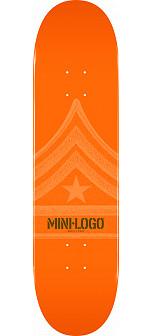 Mini Logo Quartermaster Skateboard Deck 188 Orange - 7.88 x 31.67