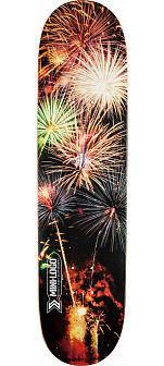 Mini Logo Small Bomb Skateboard Deck 124 Fireworks - 7.5 x 31.375