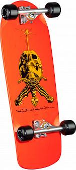 Ray Rodriguez Skull and Sword Custom Complete Skateboard Orange - 10 x 28.25