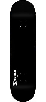 Mini Logo Small Bomb Skateboard Deck 170 Black - 8.25 x 32.5