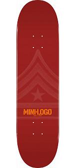 Mini Logo Quartermaster Skateboard Deck 127 Maroon - 8 x 32.125