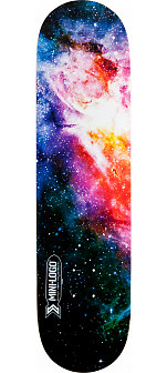 Mini Logo Small Bomb Skateboard Deck 248 Cosmic - 8.25 x 31.95