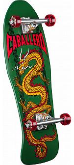 Powell Peralta Caballero Chinese Dragon Custom Complete Skateboard Green - 10 x 30