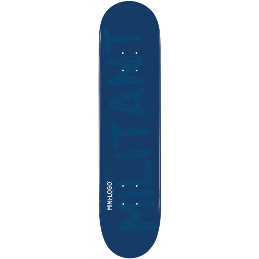 Mini Logo Militant Skateboard Deck 188 Navy - 7.88 x 31.67