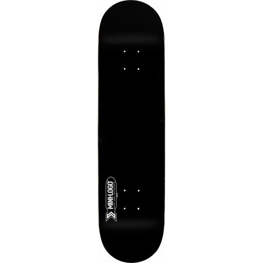 Mini Logo Small Bomb Skateboard Deck 124 Black - 7.5 x 31.375