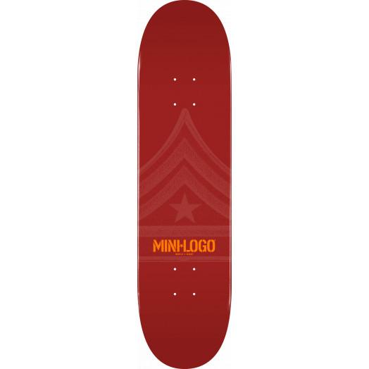 Mini Logo Quartermaster Skateboard Deck 126 Maroon - 7.625 x 31.625