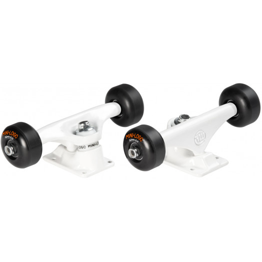 "Mini Logo Truck Assembly - 8.38"" White - ML Bearings - 52mm 101a Black Wheels"