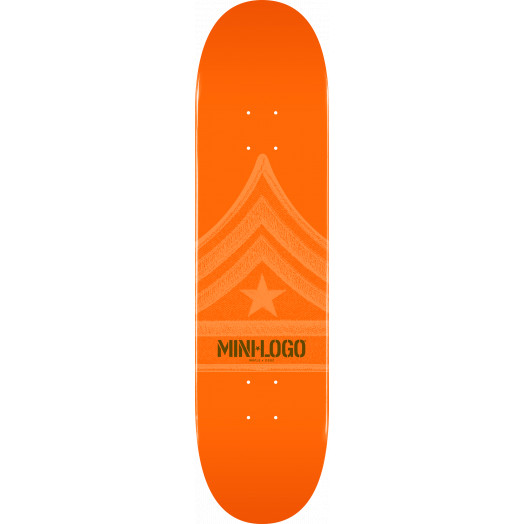 Mini Logo Quartermaster Skateboard Deck 124 Orange - 7.5 x 31.375