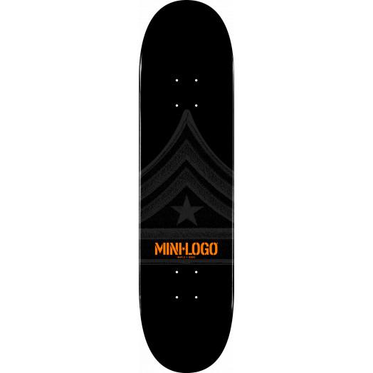 Mini Logo Quartermaster Skateboard Deck 126 Black - 7.625 x 31.625