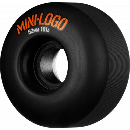 Mini Logo Wheel C-cut 52mm 101A Black 4pk