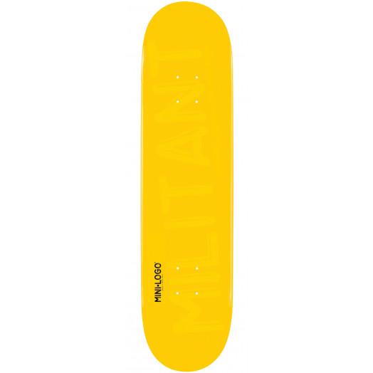 Mini Logo Militant Skateboard Deck 170 Yellow - 8.25 x 32.5