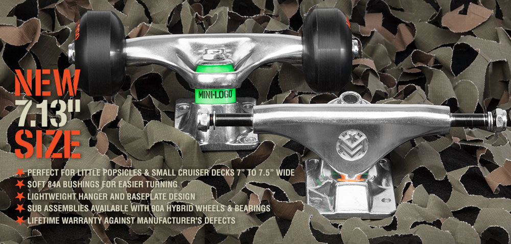 New Mini Logo 7.13&quote; Skateboard Truck Assembly