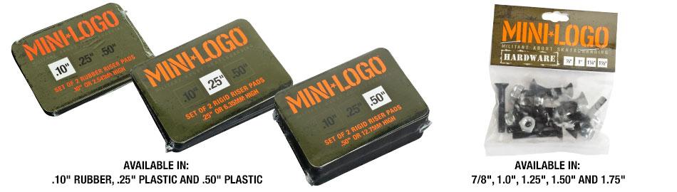 Mini Logo Risers and Hardware