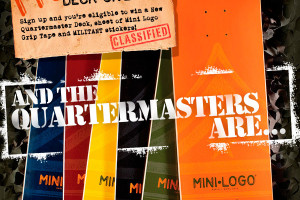 And the QUARTERMASTER Deck Winners are...
