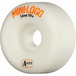 Mini Logo Skateboard Wheel A-cut 54mm 101A White 4pk