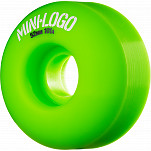 Mini Logo Wheel C-cut 52mm 101A Green 4pk