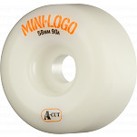 Mini Logo Skateboard Wheel A-cut 58mm 90A White 4pk