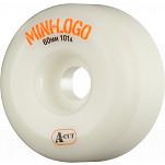 Mini Logo Skateboard Wheel A-cut 60mm 101A White 4pk