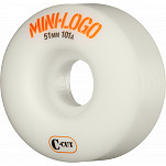 Mini Logo Skateboard Wheel C-cut 51mm 101A White 4pk