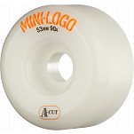 Mini Logo Skateboard Wheel A-cut 53mm 90A White 4pk