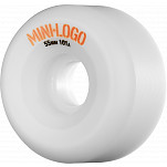 Mini Logo A-cut Wheel 55mm 101a White 4pk
