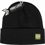 Mini Logo Chevron Beanie Black