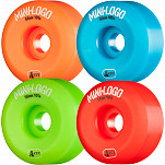 Mini Logo Skateboard Wheel A-cut 56mm 101A Assorted 4pk