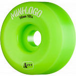 Mini Logo Skateboard Wheel A-cut 56mm 101A Green 4pk