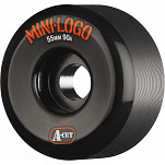 Mini Logo Skateboard Wheel A-cut 55mm 90A Black 4pk