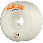 Mini Logo Skateboard Wheel A-cut 55mm 90A White 4pk