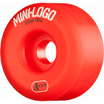 Mini Logo Skateboard Wheel A-cut 53mm 101A Red 4pk