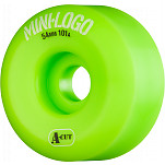 Mini Logo Skateboard Wheel A-cut 54mm 101A Green 4pk