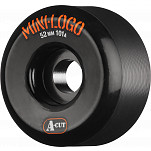 Mini Logo Skateboard Wheel A-cut 52mm 101A Black 4pk