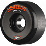 Mini Logo Skateboard Wheel A-cut 51mm 101A Black 4pk