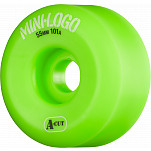 Mini Logo Skateboard Wheel A-cut 55mm 101A Green 4pk