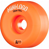Mini Logo Skateboard Wheel A-cut 56mm 101A Orange 4pk