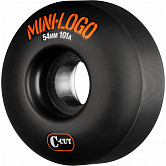 Mini Logo Skateboard Wheel C-cut 54mm 101A Black 4pk