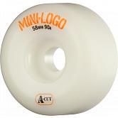 Mini Logo Skateboard Wheel A-cut 58mm 90A White 4pk