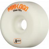 Mini Logo Skateboard Wheel A-cut 54mm 101A White 4pk