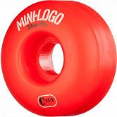 Mini Logo Skateboard Wheel C-cut 54mm 101A Red 4pk