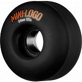 Mini Logo Wheel C-cut 54mm 101A Black 4pk